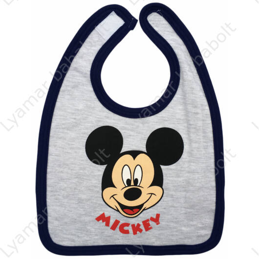 Disney Mickey pamut, tépőzáras előke szürke