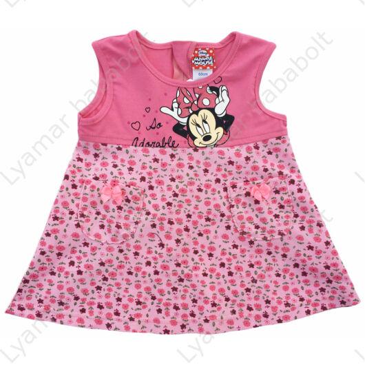 Minnie Mouse ujjatlan kord hatású pamut szoknya (méret: 68-80)