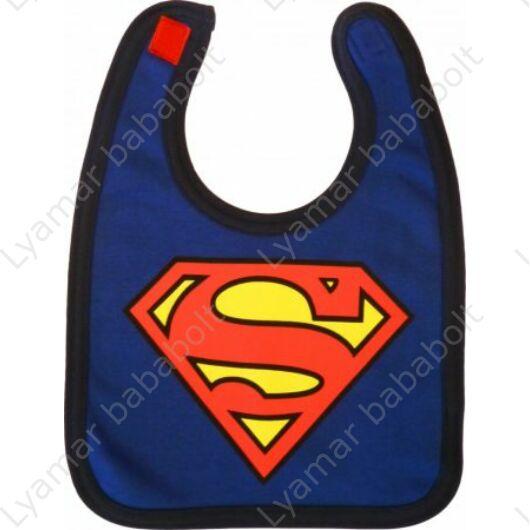 Pamut, tépőzáras előke kék Superman