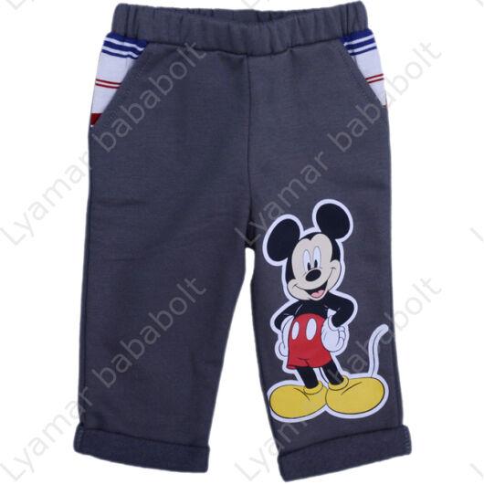 Disney Mickey egér mintás, bolyhos, bélelt hosszú nadrág (méret: 68-110)