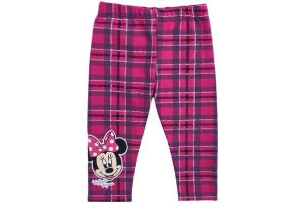 Kockás, bolyhosan bélelt leggings Disney Minnie (méret: 74-122)