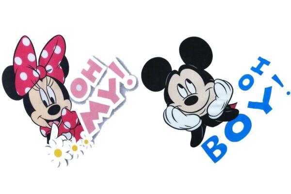 Mickey és Minnie mesefigurás textilpelenkacsomag 2 db-os (Méret: 70X70 cm)
