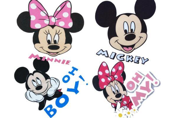 Mesefigurás textilpelenkacsomag 4 db-os Disney Mickey és Minnie (Méret: 70X70 cm)
