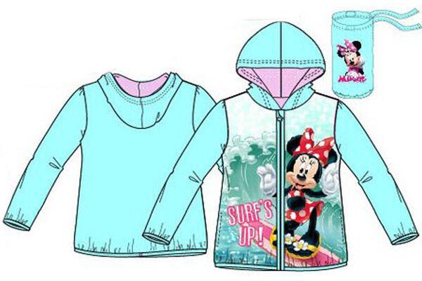 Gyerek széldzseki, kapucnis, cipzáras Disney Minnie (Méret: 86-122)
