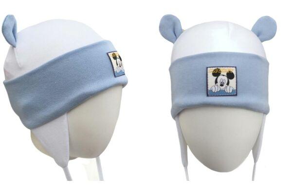 Füles, kötős babasapka Disney Mickey (Méret: 56-86)