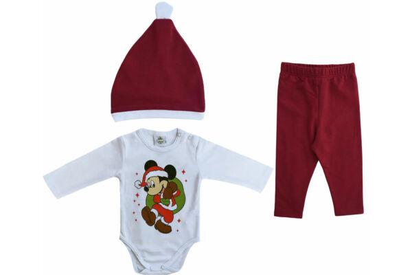 Baba 3 részes szett, Mikulás, Karácsony Disney Mickey (Méret: 56-86)
