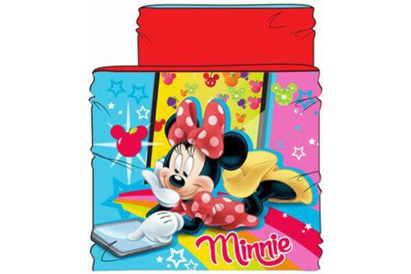 Gyerek sál, csősál, snood, belül polár béléssel, Disney Minnie (47-54 cm)