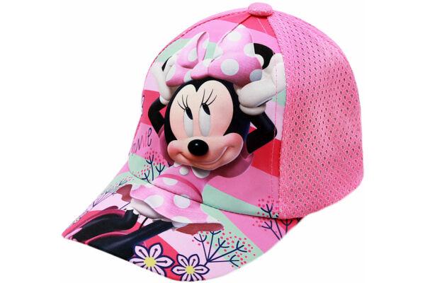 Gyerek baseball sapka, tépőzáras állítható, Disney Minnie (Méret: 52-54)