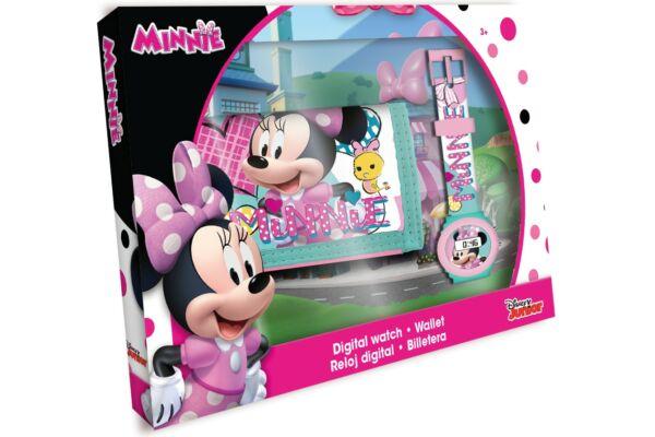Pénztárca-digitális karóra szett Disney Minnie