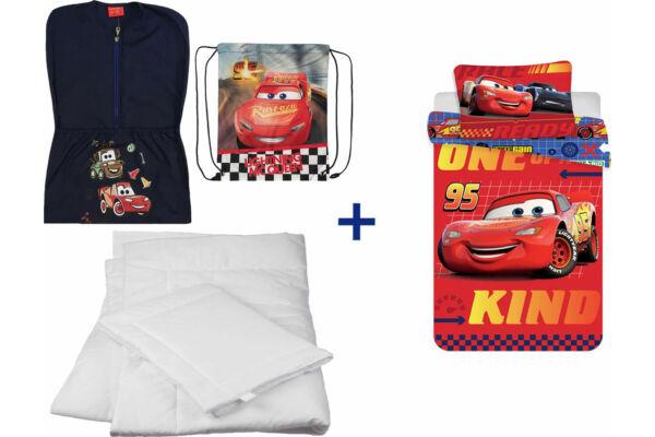 Oviszsák tornazsák csomag, ovis ágyneműhuzattal, paplannal, párnával, Disney Verdák