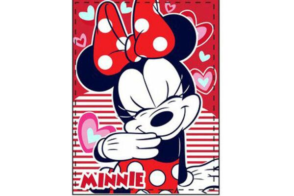 Baba plüss takaró Disney Minnie 90X120 cm
