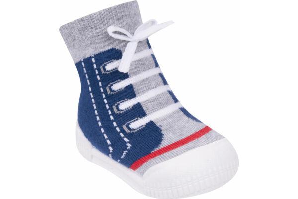 Gyerek zoknicipő, 3D cipőfűzővel (Méret: 20-23)