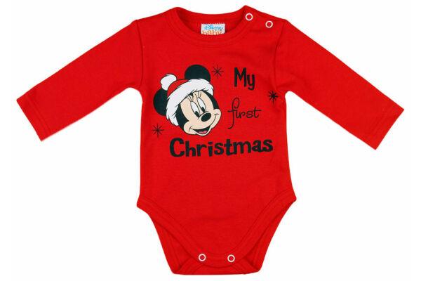 Hosszú ujjú karácsonyi body Disney Minnie