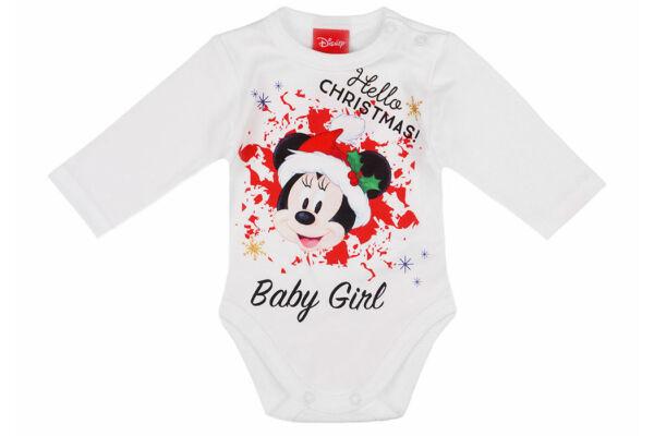 Hosszú ujjú karácsonyi body, Hello Christmas, Disney Minnie