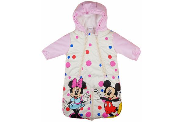 Bélelt, vízlepergetős, bundazsák, Disney Minnie (Méret: 56-74)